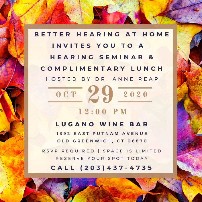 Complimentary Hearing Seminar & Lunch - Old Greenwich, CT